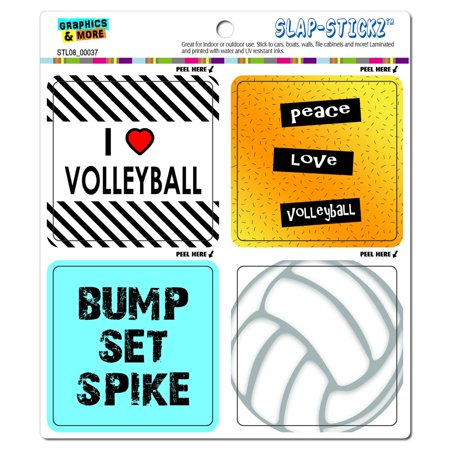 Fan Club Sticker - Volleyball Player Fan Love SLAP-STICKZ(TM) Premium Sticker