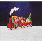 "Holiday Time 64"" Tinsel Train Light Sculpture, 3-Piece Set"
