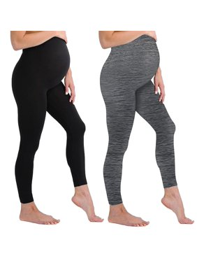 08352fd1e6e110 Product Image Black and Grey Maternity Leggings Soft Solid Stretch Seamless  Tights One Size Fits All Active Wear