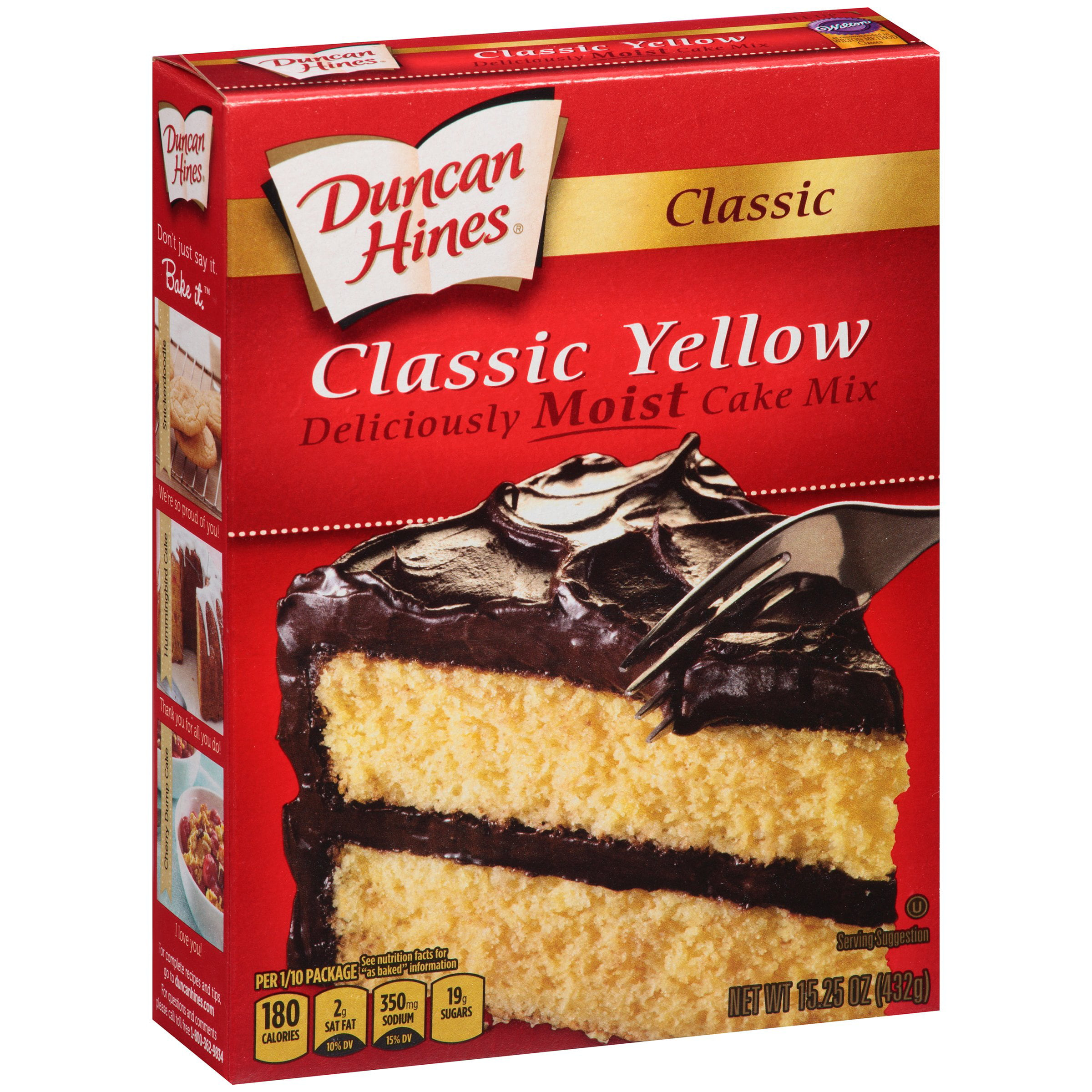 Duncan Hines Classic Yellow Deliciously Moist Cake Mix, 15.25 oz by Pinnacle Foods Group LLC