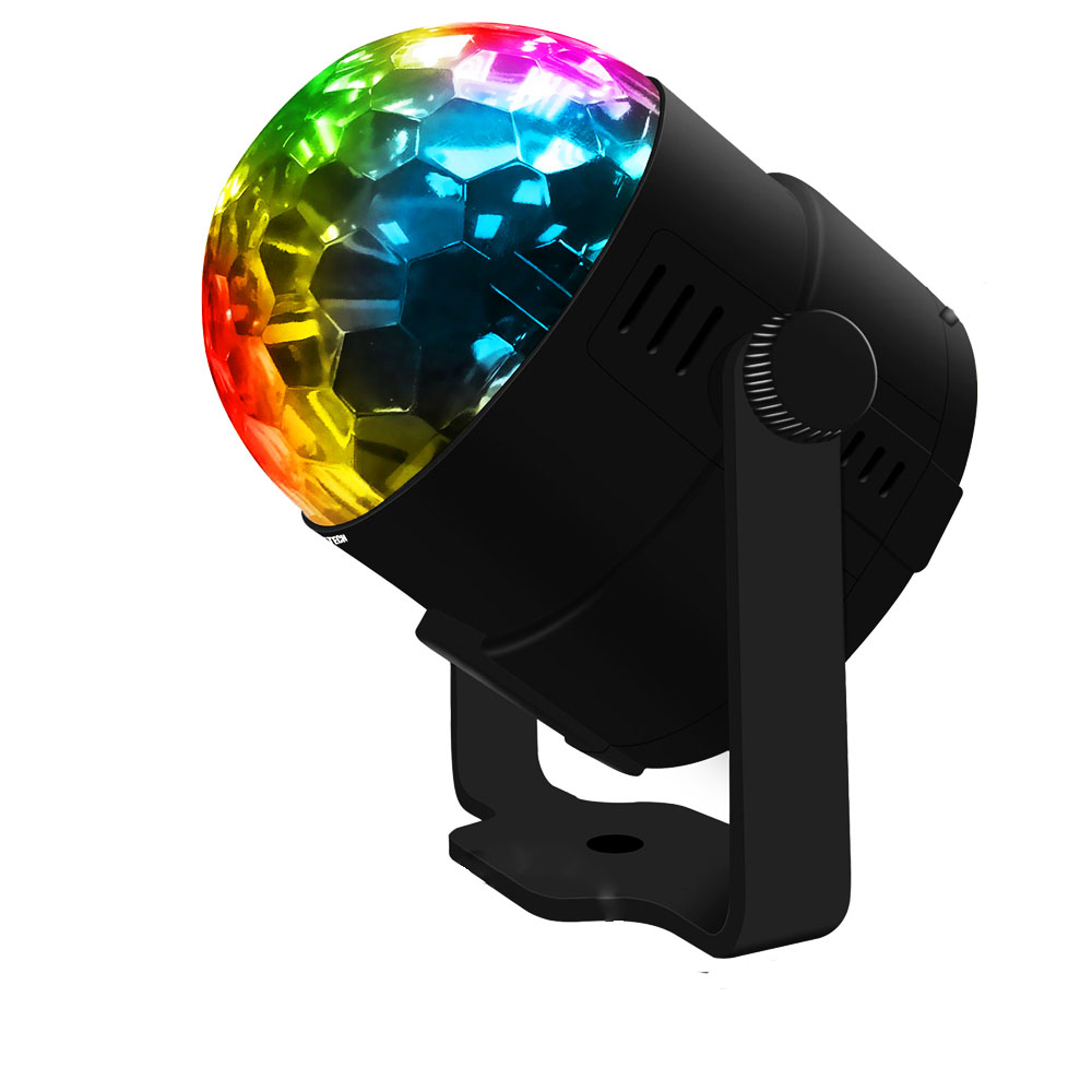 Ktaxon LED RGB DJ Club Disco Party Magic Ball Crystal Effect Light Stage Lighting 3W... by