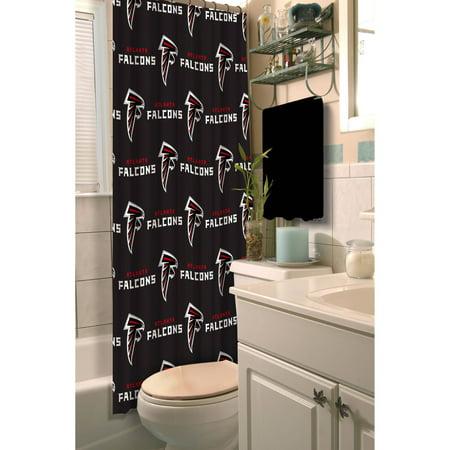 NFL Atlanta Falcons Decorative Bath Collection Shower Curtain