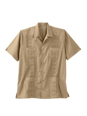 ed5c3e68 Product Image Ks Island Men's Big & Tall Short-sleeve Guayabera Shirt