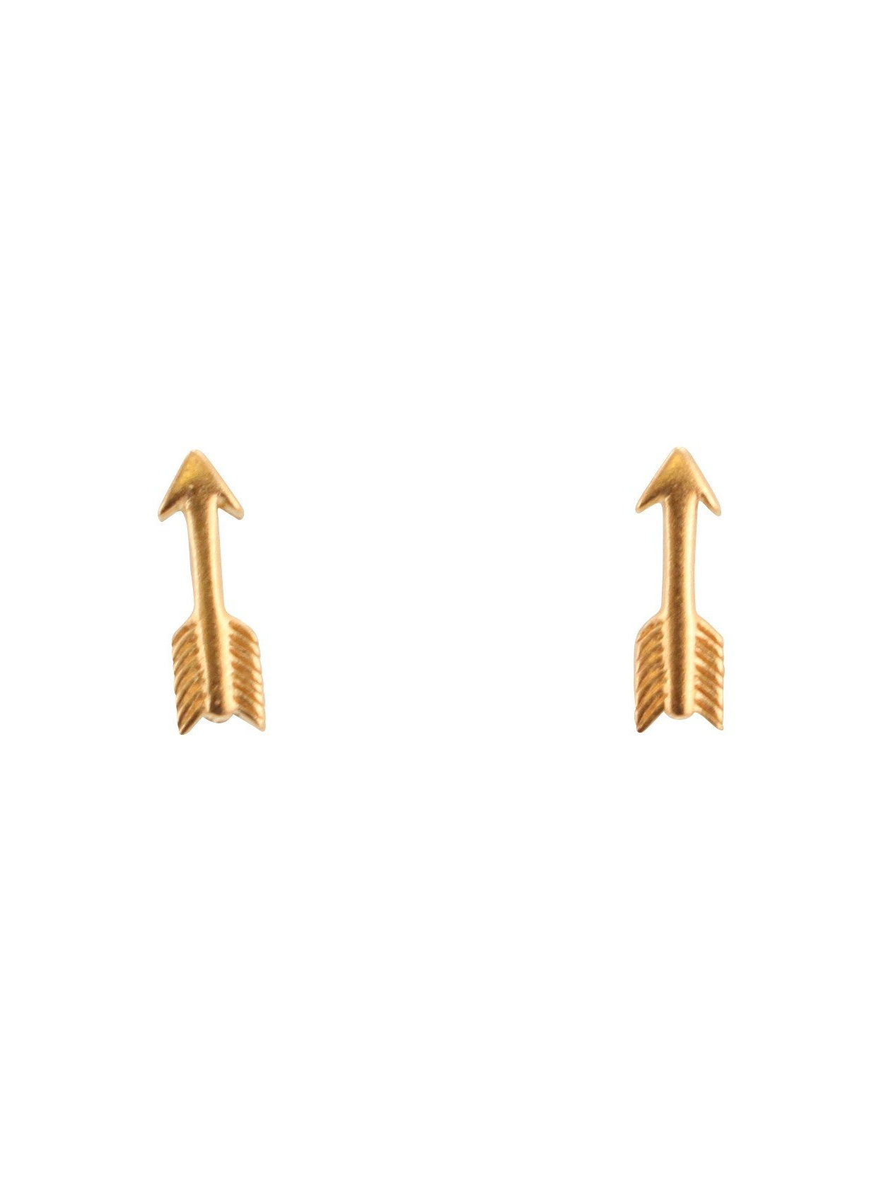 Zoe And Piper Small Arrow Stud Earrings 24kt Gold Plated Sterling Silver 6492