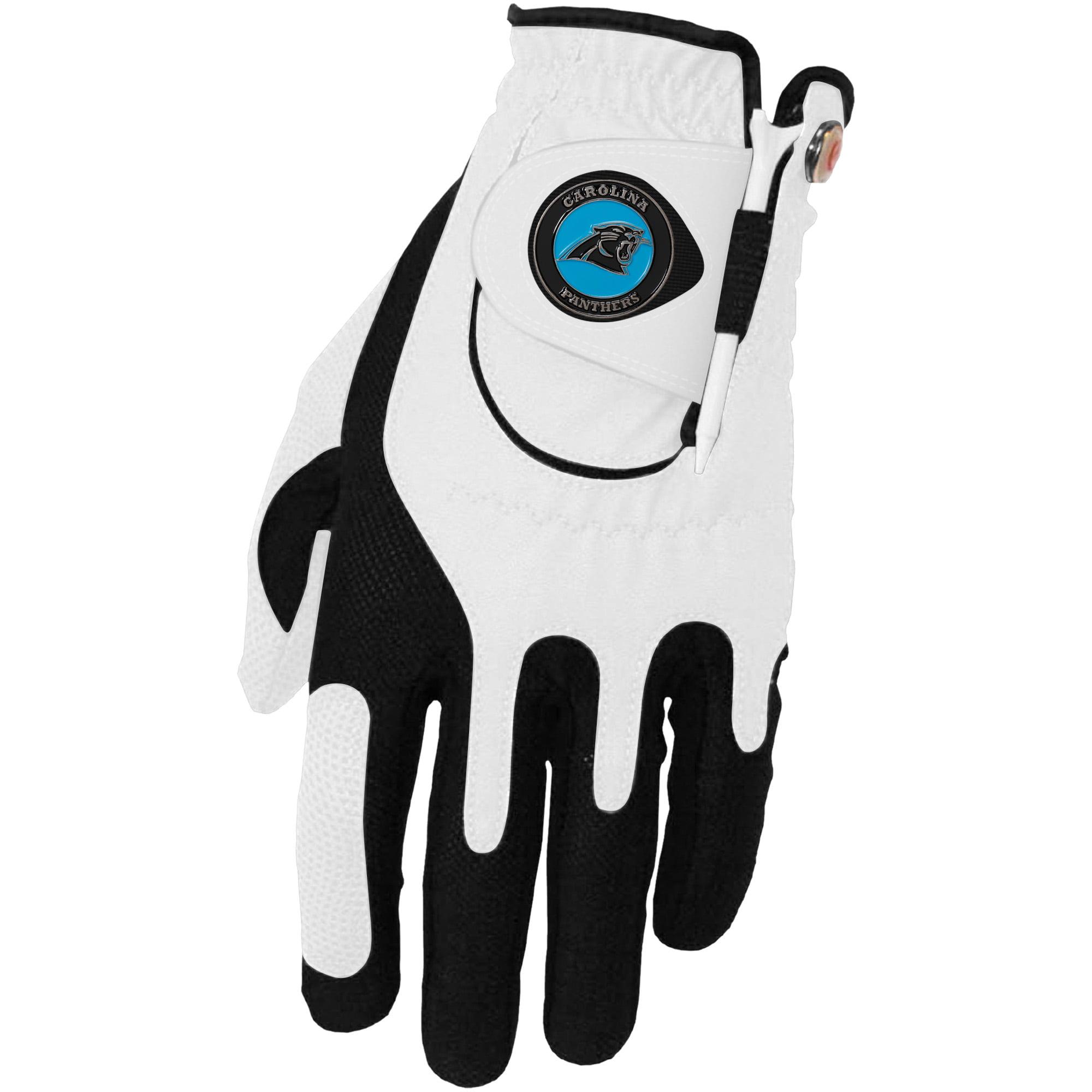 Carolina Panthers Left Hand Golf Glove & Ball Marker Set - White - OSFM
