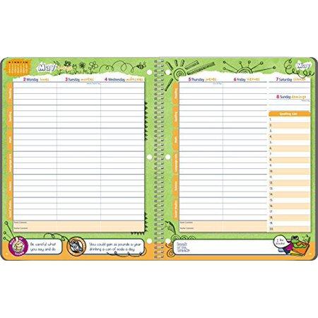 student planner 2016 2017 school year planner elementary school content 85 x