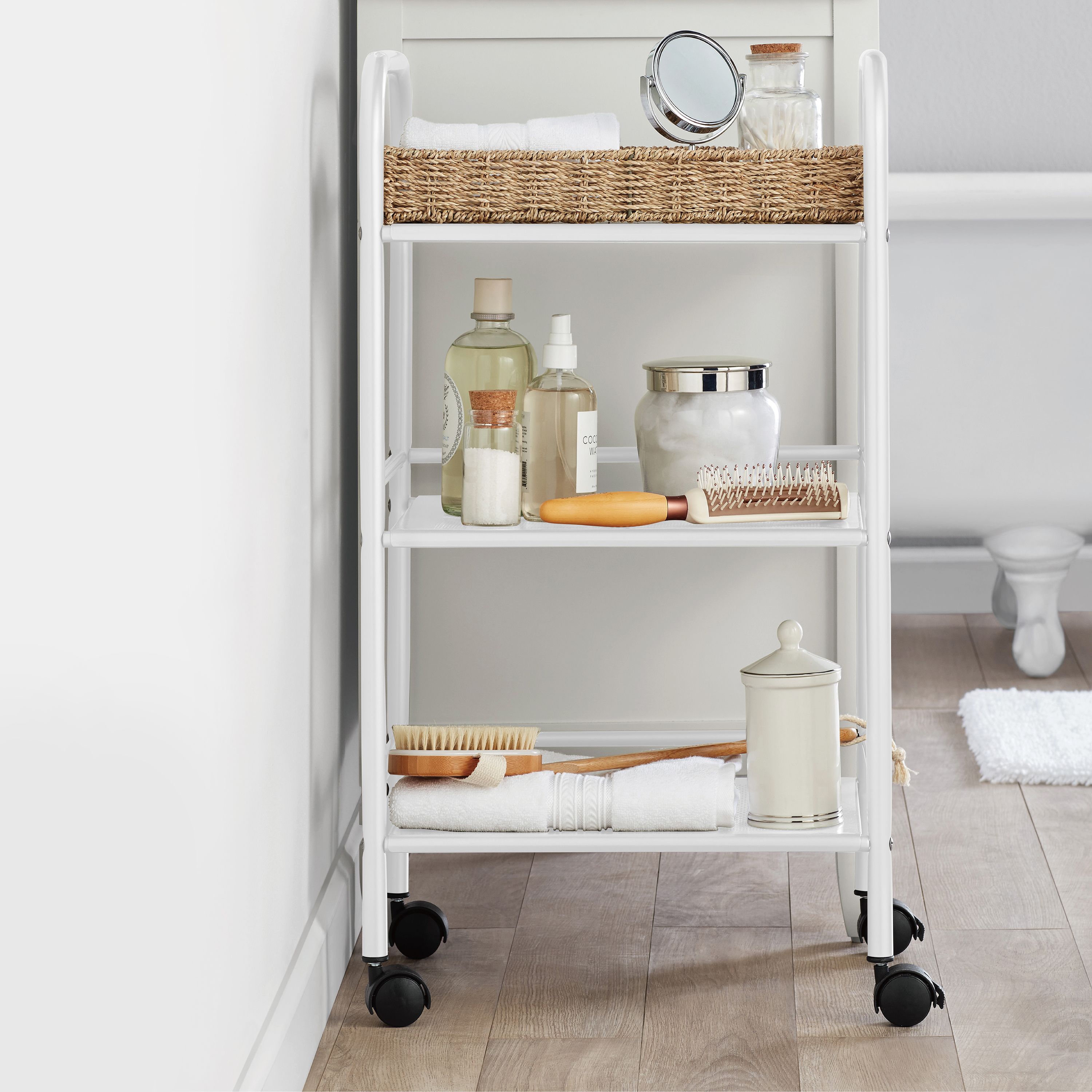 Mainstays Rolling Kitchen Cart - White