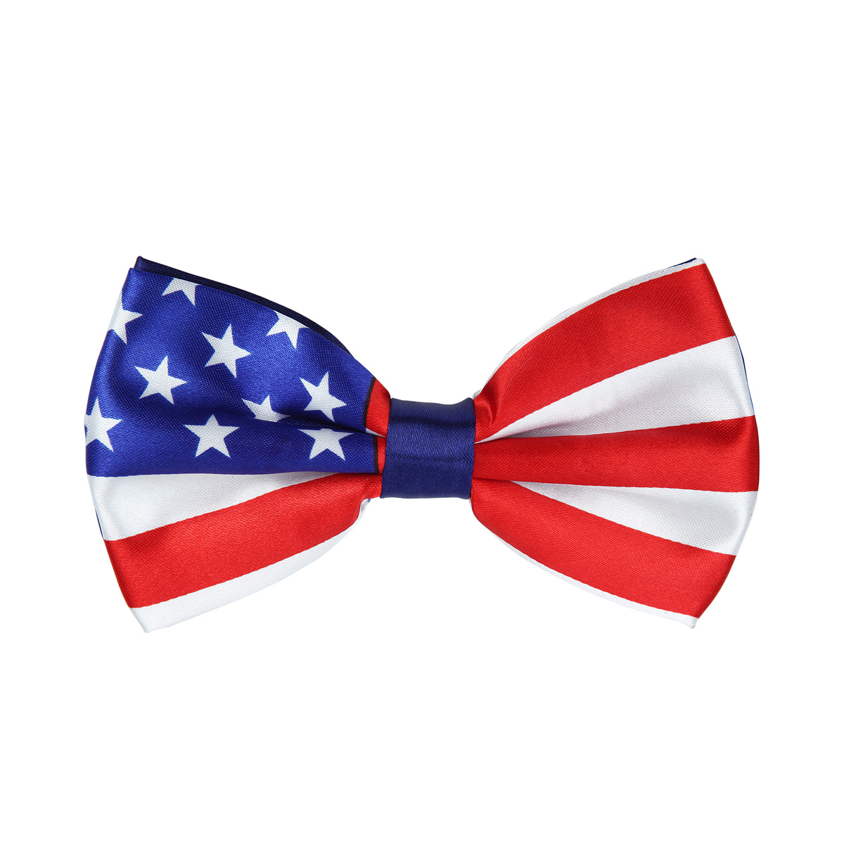 Premium Men's USA US American Flag Tuxedo Neck Bowtie Bow Tie