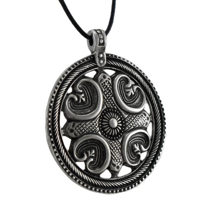 Silver Plated Pewter Viking Protection Amulet Pendant
