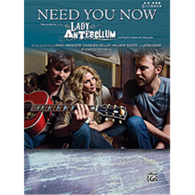 Alfred 00-35276 Need You Now - Music Book