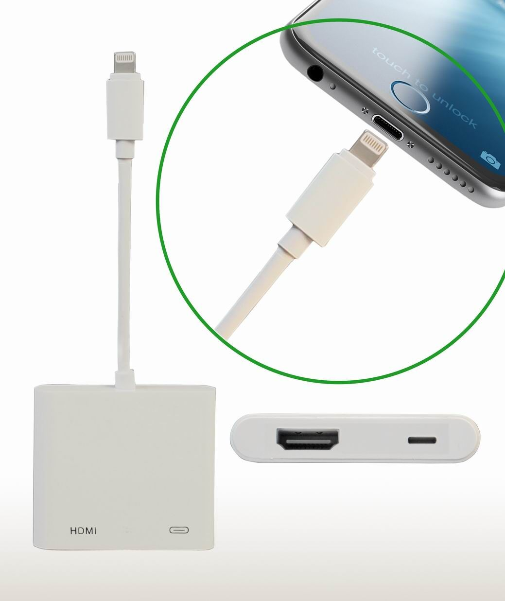 iphone to hdmi. superb choice not for netflix and amazon prime - lightning digital av adapter hdmi connector connecting iphone 5/6/7 ipad to equipped tv projector hdmi l