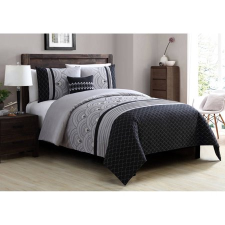 Better homes and gardens art deco 4 piece bedding duvet cover set for Better homes and gardens quilt sets