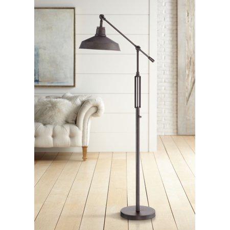 Franklin Iron Works Industrial Downbridge Floor Lamp LED Oil Rubbed ...