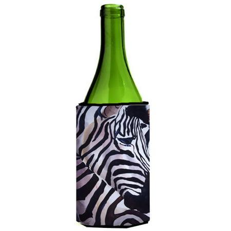 Zebra Wine Bottle - Zebra Head Wine Bottle Beverage Insulator Hugger JMK1198LITERK