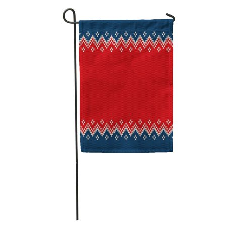 NUDECOR Christmas and New Year Knitted Place Knitting Sweater Ornamental Wool Garden Flag Decorative Flag House Banner 28x40 inch - image 1 de 2
