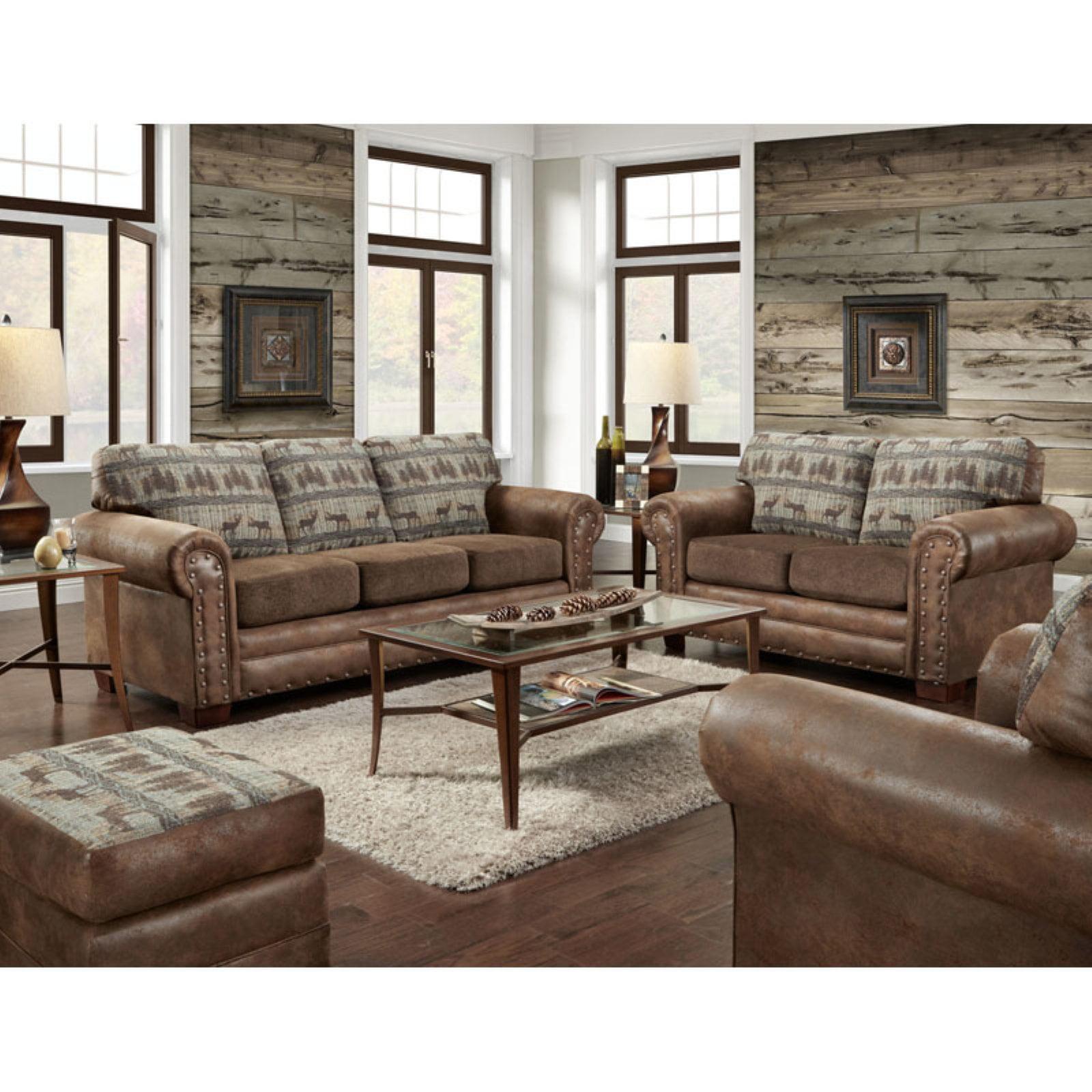 American Furniture Classics Deer Teal Lodge 4 Piece Sofa Set