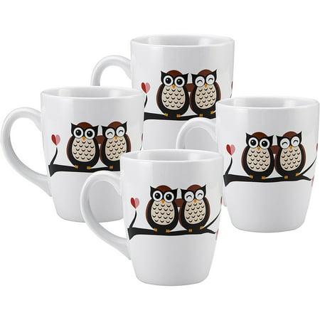 Oversized Jumbo Mug, Owls