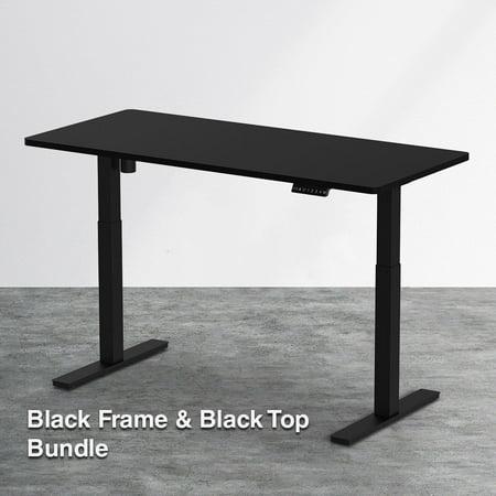 clevr single motor electric stand up desk ergonomic standing height adjustable work station. Black Bedroom Furniture Sets. Home Design Ideas