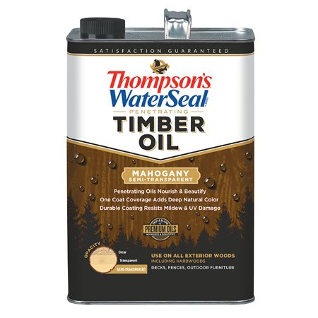 Thompsons WaterSeal Timber Oil Semi-Transparent Mahogany gal