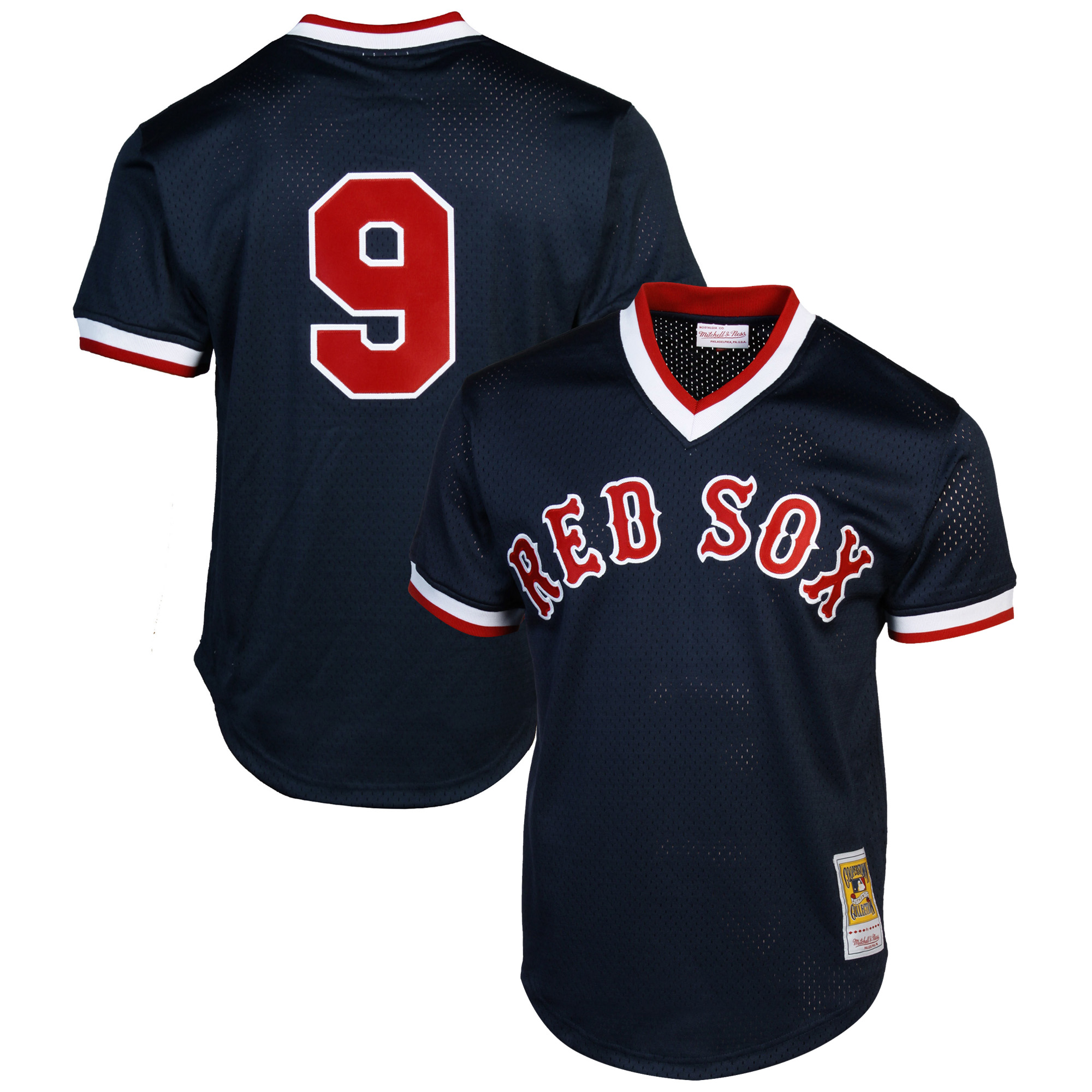 Mitchell & Ness Ted Williams Boston Red Sox 1990 Authentic Cooperstown Collection Batting Practice Jersey - Navy Blue