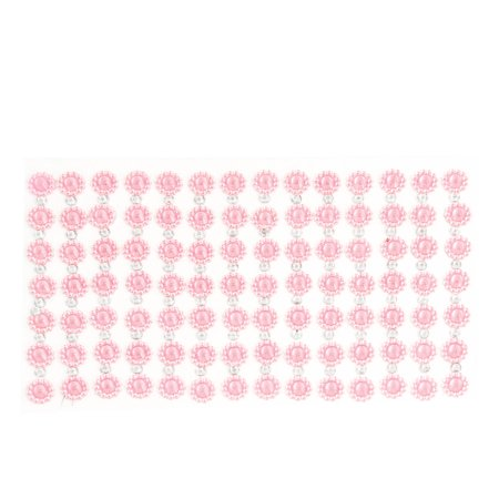 Unique Bargains Cell Phone Interior Detail Self Adhesive Faux Crystal Sticker Pink Silver Tone