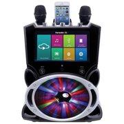 Karaoke USA WK849 Complete Wi-Fi Bluetooth Karaoke Machine with 9-Inch Touch Screen