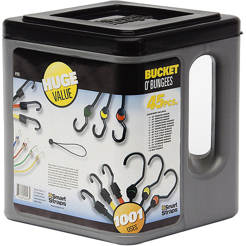 SmartStraps Bucket O' Bungees Value Pack Assortment, 45 Pieces
