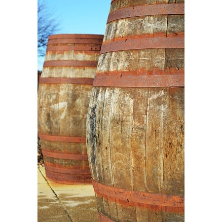 LAMINATED POSTER Decorations Wood Whiskey Barrels Containers Wine Poster Print 24 x 36 - Poster Decorations