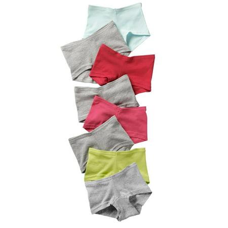 - Girls` Cotton Boy Short Panties, GSBS80, 4, Assorted