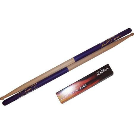 Zildjian 5a Purple Dip (Zildjian 7AWP 7A Wood Purple Dip Drumsticks Drum Sticks - One)
