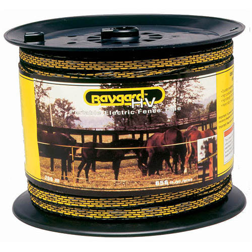 Baygard Parker Mccrory 00129 656' Yellow & Black High Visibility Electric Fence Tape