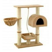 Go Pet Club 36 in. Samson Beige Cat Tree - F16