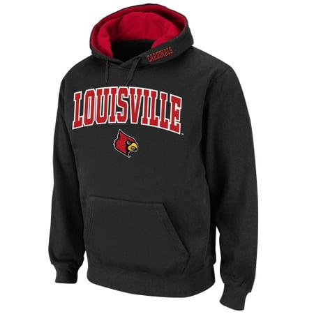 Louisville Cardinals Stadium Athletic Arch & Logo Pullover Hoodie - Black