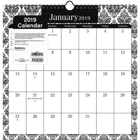 2019 Elegance Spiral Wall Calendar