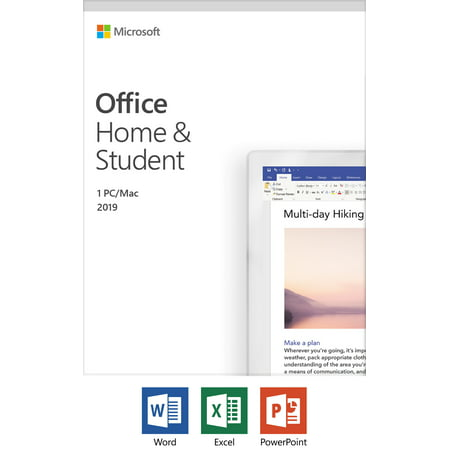 Microsoft Office Home and Student 2019 | 1 device, Windows 10 PC/Mac Key Card (Microsoft Office Product Key)