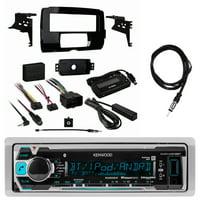 "Kenwood KMRM318BT Marine Digital Media Receiver w/ Bluetooth, Metra Harley Davidson Single Din Dash Kit, Enrock Marine EKMR2 Antenna - 40 """