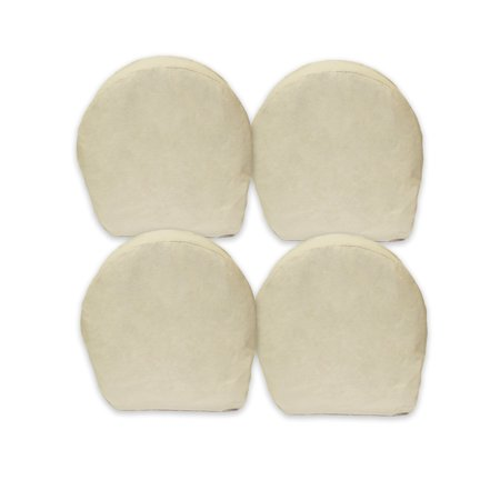 """ABN 5629 Canvas Wheel Covers 32"""" Inch Set of 4 Best for RV, Camper, Trailer, Car"""