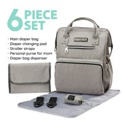 309982d5a08c1 9 · SoHo diaper bag backpack Wide Opening 6 pcs nappy tote bag for ba