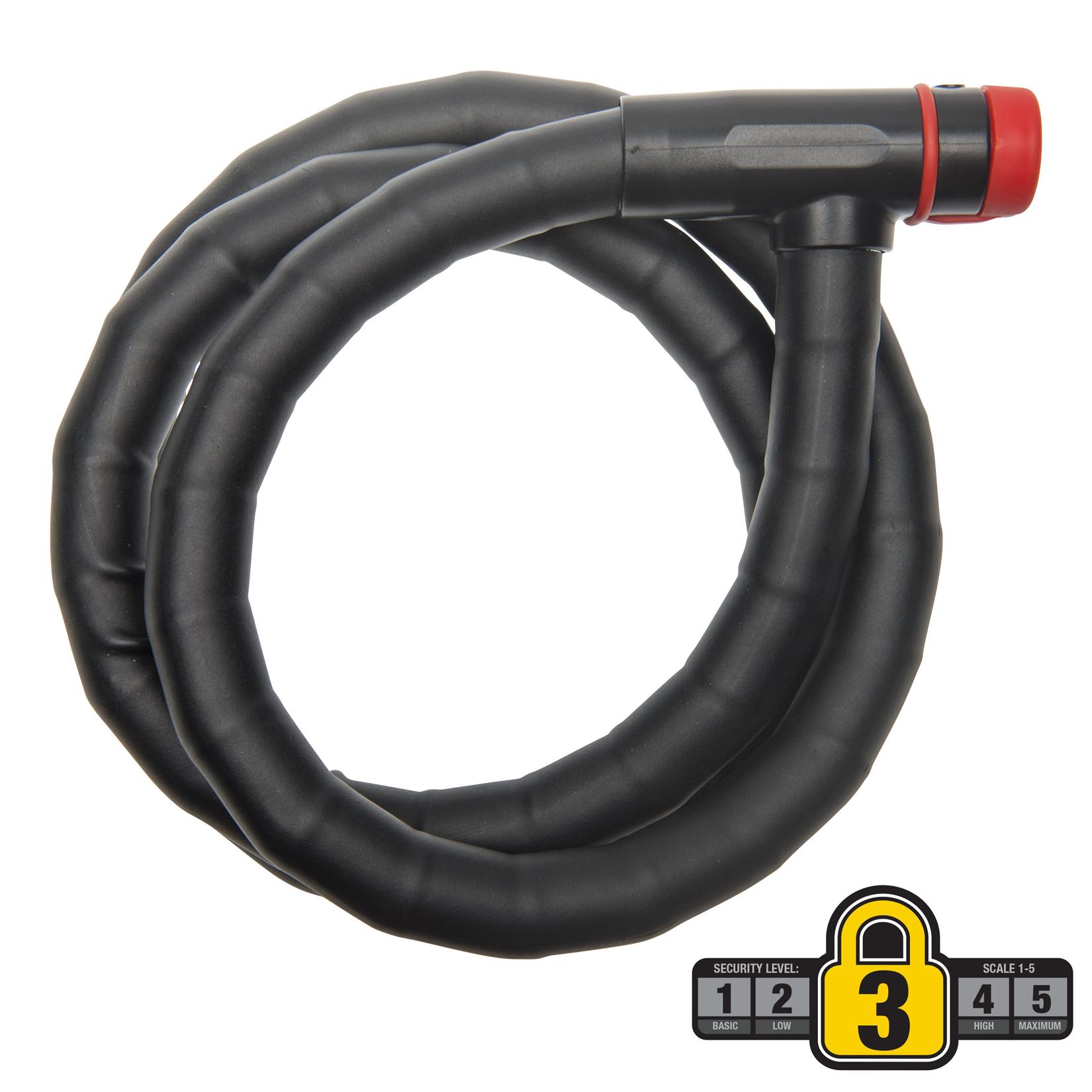 Bell Sports Ballistic 500 4' x 18mm Heavy-Duty Key Cable Bicycle Lock, Black