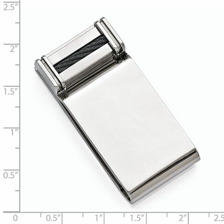 Edward Mirell Titanium Cable Money Clip Man Fashion Jewelry Gift For Dad Mens For Him - image 3 of 7