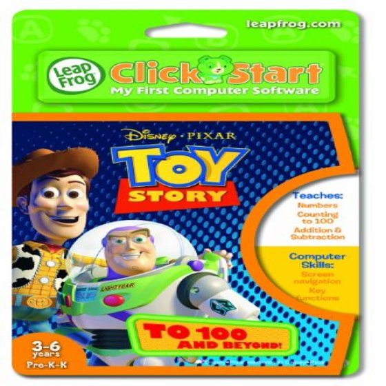Leapfrog Clickstart Educational Software Toy Story To 100 Beyond