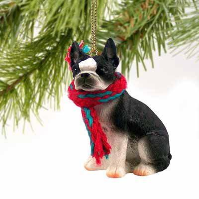 Boston Terrier Dog Ornament - Conversation Concepts Boston Terrier Miniature Dog Ornament