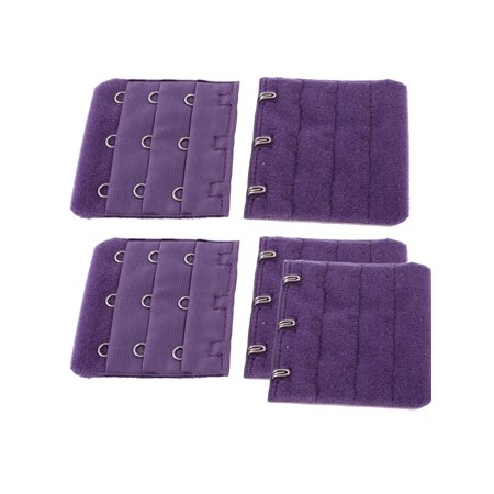 b5e287c801 5 Pcs Women 3 x 3 Hooks Adjustable Bra Back Extenders Strap Buckle Hook -  Walmart.com
