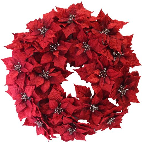 Dyno Seasonal Solutions 24'' Christmas Poinsettia Wreath