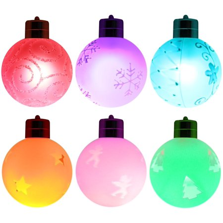 LED Christmas Hanging Ball, Wireless Remote Control RGB Color Changing Battery Operated Globe ...