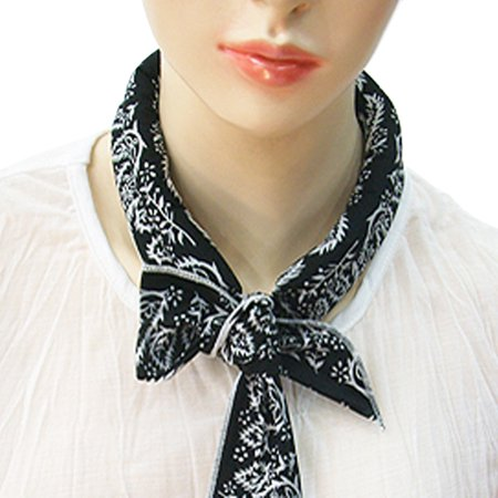 Cotton Neck Scarf (The Elixir Cooling Scarf Chilling Sports Scarf/Headband/Neck Wrap, Cotton Polar Reusable Ice Scarf, Black )