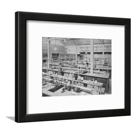 Student laboratory, Sterling Chemical Laboratory, Yale University, New Haven, Connecticut, 1926 Framed Print Wall Art
