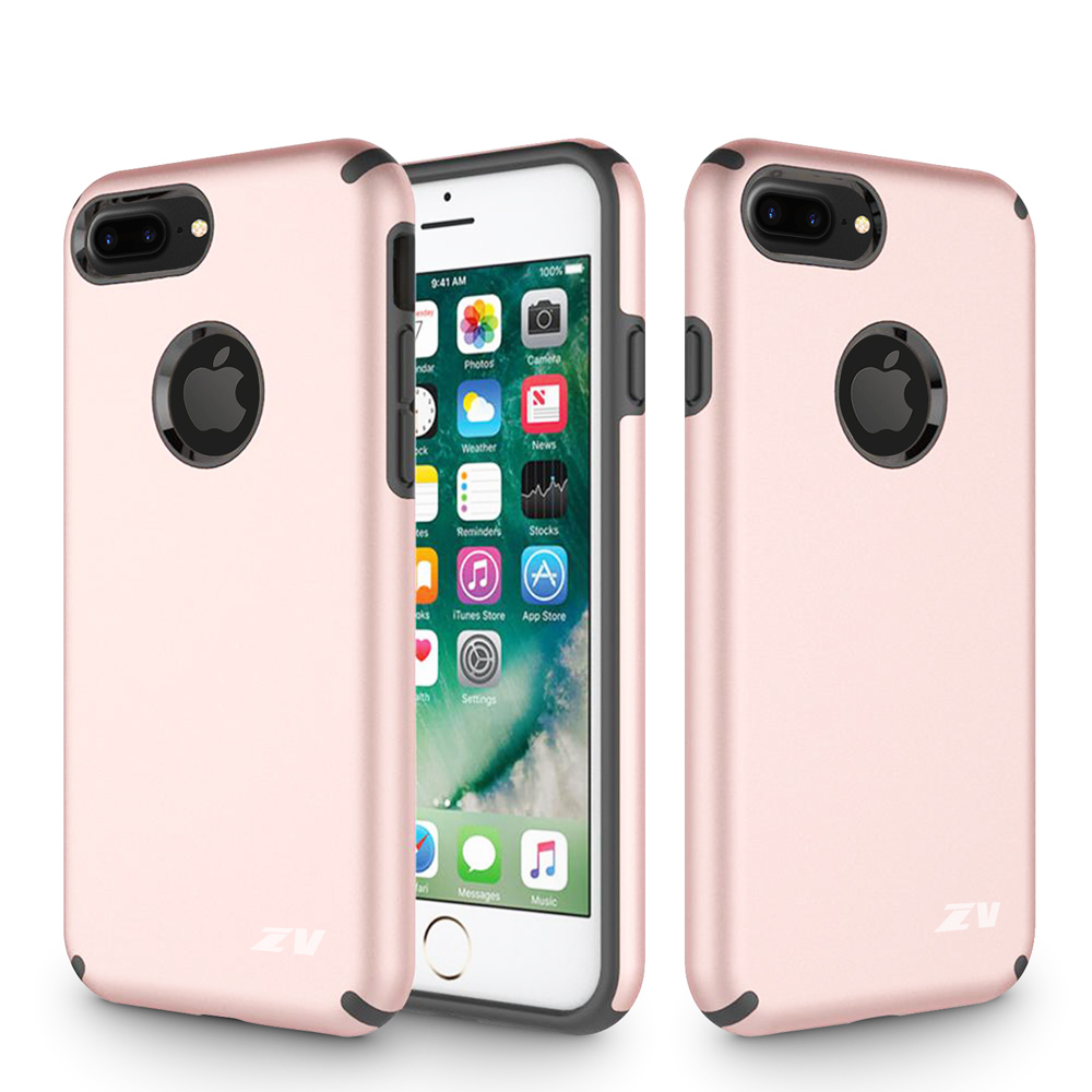 Zizo Sleek Hybrid Case for iPhone 8 and iPhone 7, Rose Gold