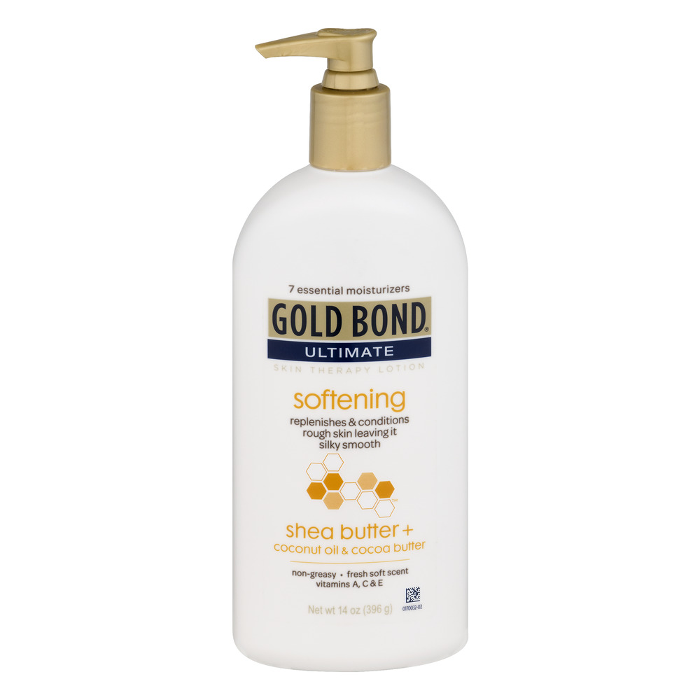 Gold Bond Ultimate Softening Skin Therapy Lotion with shea butter, coconut oil, & cocoa butter, 14 oz