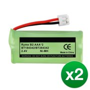 Replacement For BATT-6010 Cordless Phone Battery (500mAh, 2.4V, Ni-MH) - 2 Pack